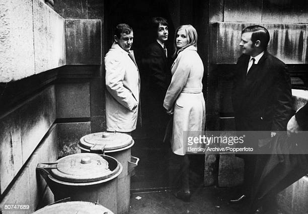 12th March 1969 London Paul McCartney the last of the Beatles to get married with his bride to be Linda Eastman as they enter Marylebone Register...