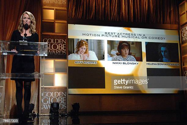 Entertainment News Anchor Brooke Anderson Announces Best Actress In A Motion Picture Musical Or Comedy Winner The 65th Annual Golden Globe Awards