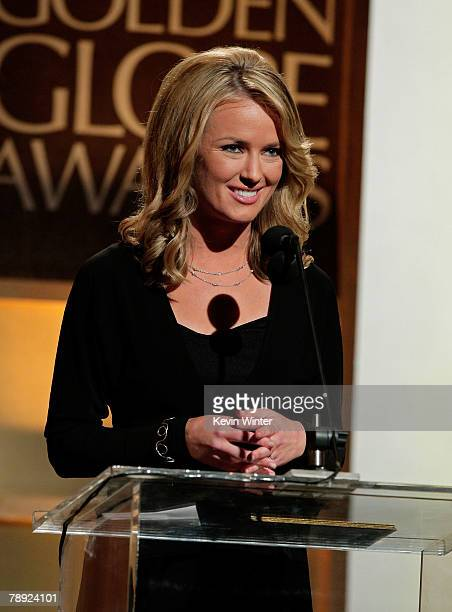 Entertainment News Anchor Brooke Anderson Speaks During The 65th Annual Golden Globe Awards Press Conference Held