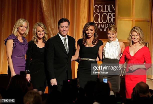 Entertainment News Anchors Lara Spencer Brooke Anderson Jim Moret Giuliana Rancic Dayna Devon And Mary Hart The 65th Annual Golden Globe Awards