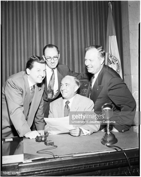 Entertainment of orphans prior to Fathers' Day resolution to council chambers 5 June 1952 Ernest Debs Harold Henry Eddie Bracken Harry Morrison...