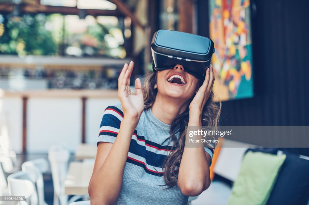 Entertainment of the future : Stock Photo