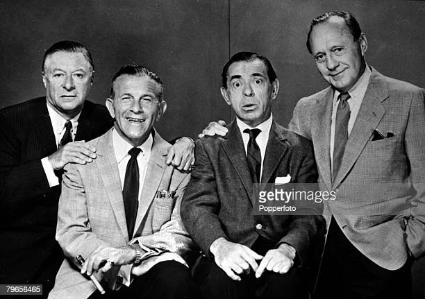 25th November 1959 American comedians leftright George Jessel George Burns Eddie Cantor and Jack Benny