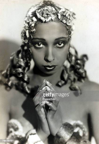 circa 1930 A portrait of Josephine Baker American born dancer and singer