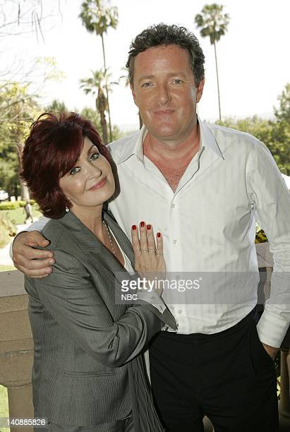 Entertainment -- Pictured: Piers Morgan and Sharon Osbourne on April 27, 2007 -- Photo by: Chris Haston/NBCU Photo Bank