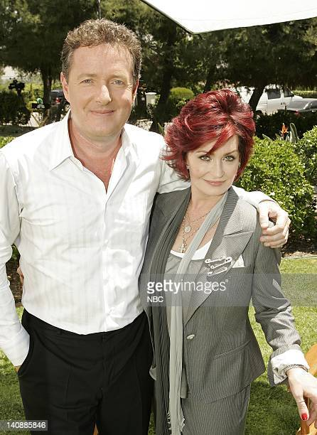 Entertainment -- Pictured: Sharon Osbourne and Piers Morgan on April 27, 2007 -- Photo by: Chris Haston/NBCU Photo Bank
