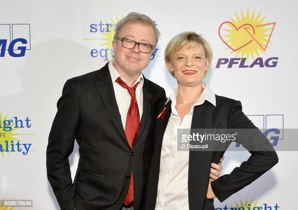 Entertainment Presenter Eric Gilliland and Entertainment Honoree Martha Plimpton attend the ninth annual PFLAG National Straight for Equality Awards...