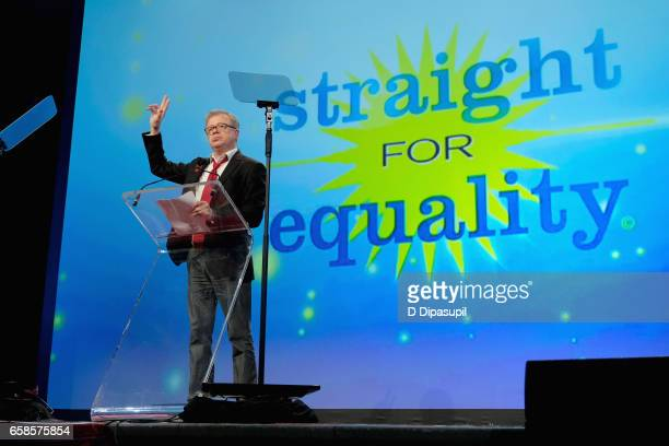 Entertainment presenter, producer Eric Gilliland speaks on stage during the ninth annual PFLAG National Straight for Equality Awards Gala on March...
