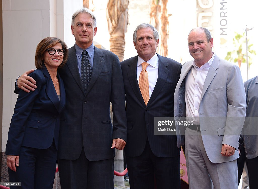CBS Entertainment President Nina Tassler, actor Mark Harmon, President and Chief Executive Officer of CBS Corporation Leslie Moonves and President of CBS Television Studios David Staph pose as actor Mark Harmon is honored with the 2,482nd star on the Hollywood Walk of Fame on October 1, 2012 in Hollywood, California.