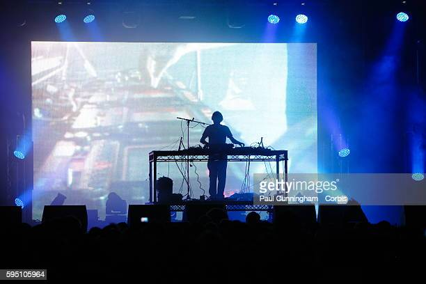 UK Entertainment Relentless Freeze Festival Beardyman takes to the main stage at the annual Ski and Snowboard festival Battersea Power Station London...