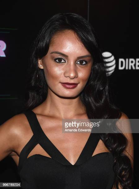 Entertainment reporter Alexis Joy arrives at the Los Angeles special screening of 'Hot Summer Nights' at the Pacific Theatres at The Grove on July 11...