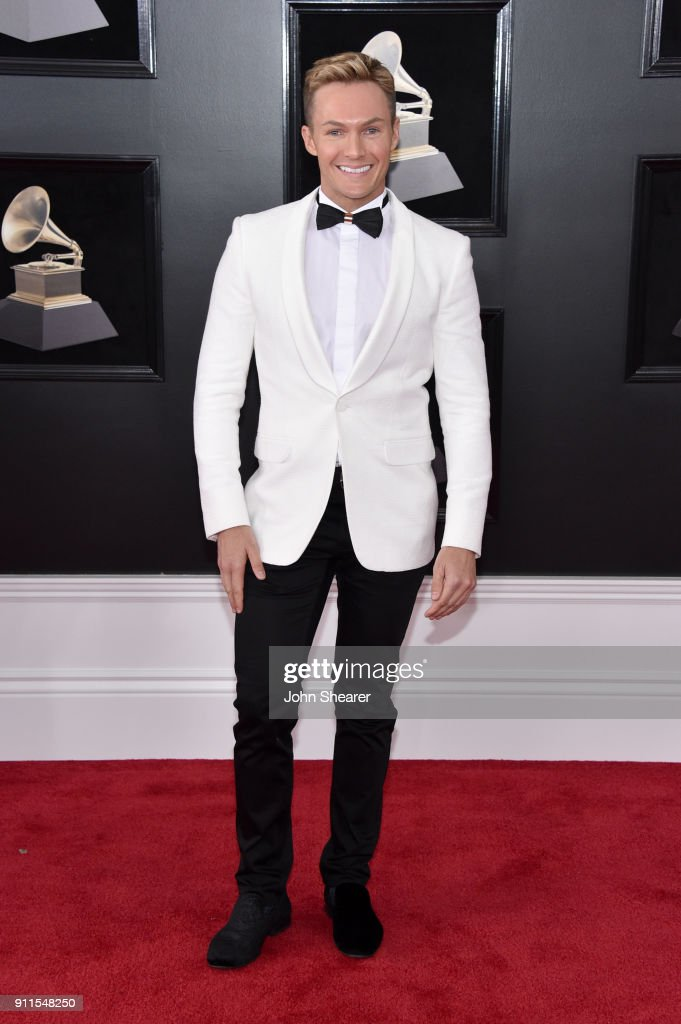Entertainment reporter Dean McCarthy attends the 60th Annual GRAMMY Awards at Madison Square Garden on January 28, 2018 in New York City.