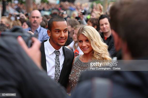 UK Entertainment Theo Walcott and Melanie Slade at the UK Film Premiere of HARRY POTTER AND THE DEATHLY HALLOWS PART 2 Trafalgar Square London 7 July...