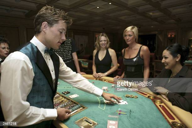 Entertainment Today Presenters Jackie Brambles, Jenni Falconer and Ben Shephard play on the high rollers tables September 3, 2003 at the Mirage in...