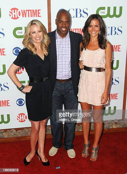 Entertainment Tonight correspondents Brooke Anderson Kevin Frazier and Christina McCarty arrive at the TCA Party for CBS The CW and Showtime held at...