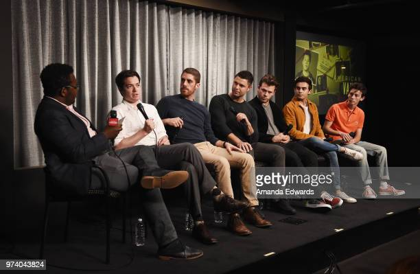 Entertainment Weekly correspondent Chancellor Agard executive producer Dan Perrault director Tony Yacenda producer Dan Lagana and actors Jimmy Tatro...