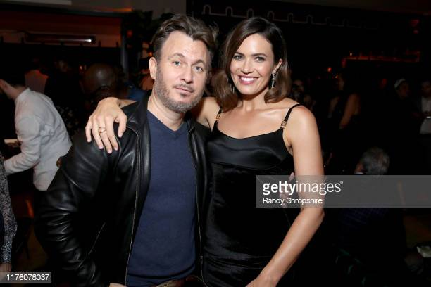 Entertainment Weekly Editor in Chief JD Heyman and Mandy Moore attend the 2019 Pre-Emmy Party hosted by Entertainment Weekly and L'Oreal Paris at...