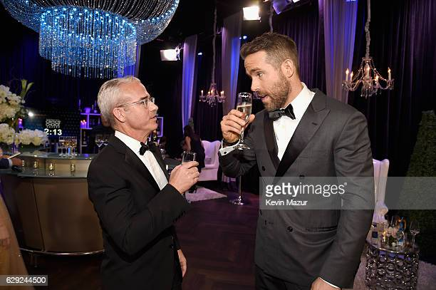 Entertainment Weekly Editor Jess Cagle and actor Ryan Reynolds attend The 22nd Annual Critics' Choice Awards at Barker Hangar on December 11, 2016 in...