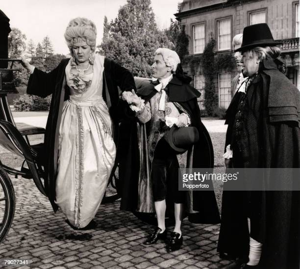Entertainment/Cinema 10th June 1966 British comedians LR Joan Sims Kenneth Williams and Peter Butterworth are pictured during the filming of the...
