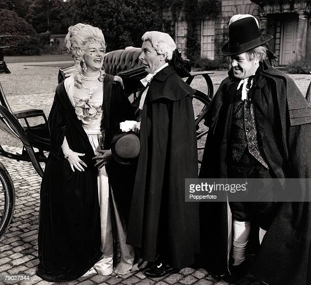 Entertainment/Cinema 10th June 1966 British comedians LR Joan Sims Kenneth Williams and Peter Butterworth pictured during the filming of the latest...