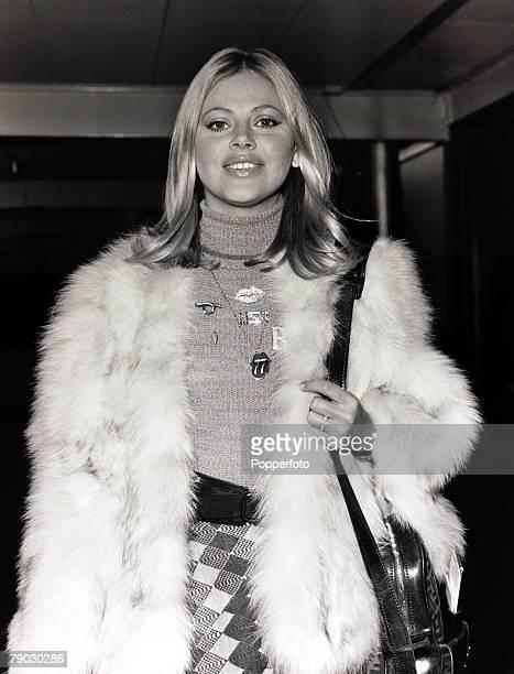 Entertainment/Cinema, London, England, 2nd December 1971, Swedish actress Britt Ekland pictured at Heathrow Airport