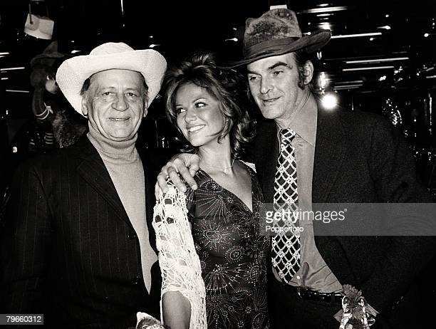Entertainment/Cinema Paris France 2nd December 1970 Pictured together are LR ex convict actor and author of the novel Papillon Frenchman Henri...