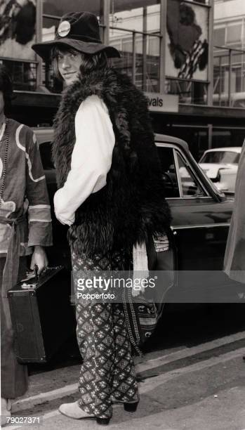 Entertainment/Music 22nd September 1967 Brian Jones of The Rolling Stones pop group pictured as he walks to his car after arriving at Heathrow...