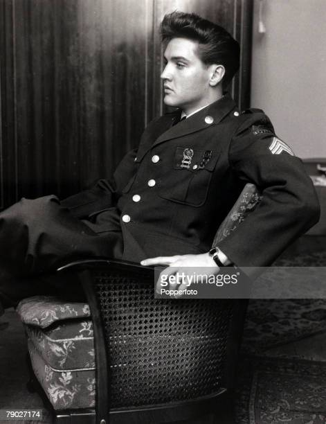 Entertainment/Music Elvis Presley pictured in Germany as an American GI whilst serving in the USforces