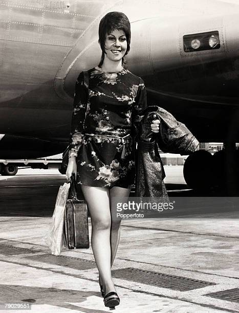 Entertainment/Music London England 23rd June 1970 British singer Helen Shapiro pictured as she arrived back at Heathrow Airport after a concert tour...