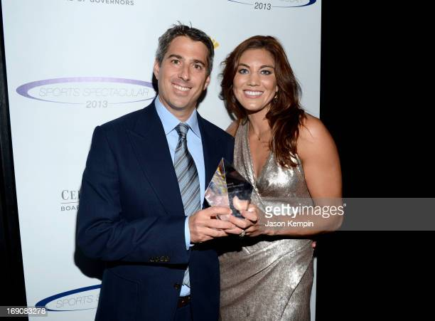 Entertainment/Sports Agent Executive Casey Wasserman and show presenter and honoree Hope Solo attend the 28th Anniversary Sports Spectacular Gala at...