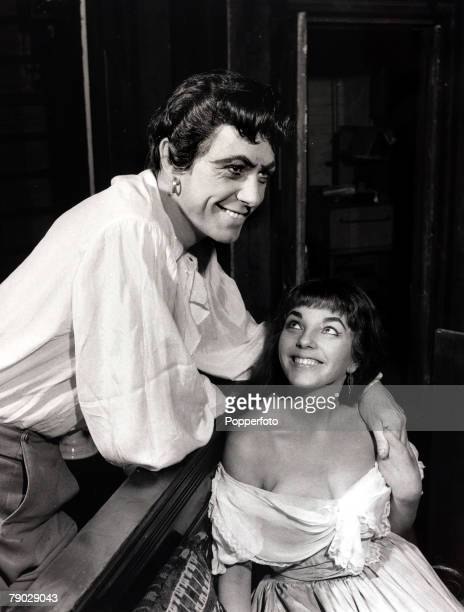 Entertainment/Theatre England 10th April 1952 British actress Joan Collins and Maxwell Reed pictured at a London theatre