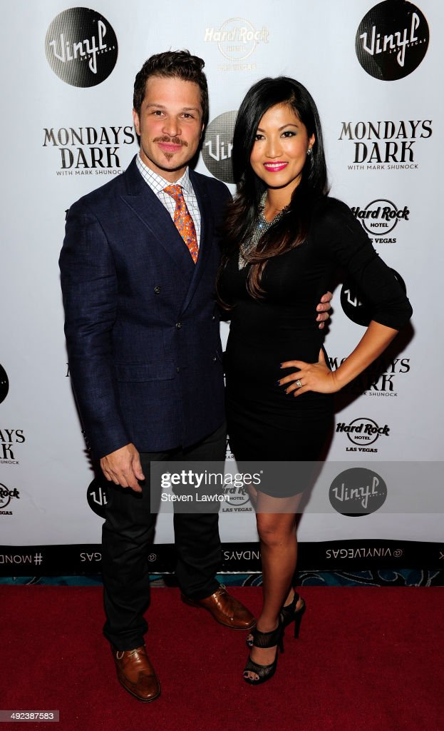 Entertanier Mark Shunock and Cheryl Doran arrive at 'Mondays Dark With Mark Shunock' benefiting the NF Network at Vinyl inside the Hard Rock Hotel & Casino on May 19, 2014 in Las Vegas, Nevada.