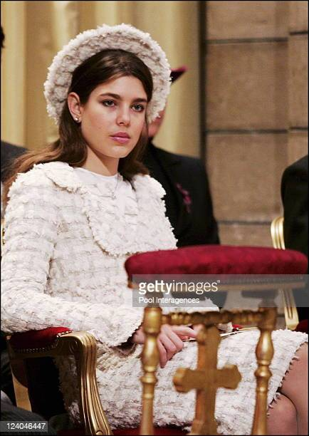 Enthronement ceremony of HRH Prince Albert II of Monaco mass at the cathedral In Monaco city Monaco On November 19 2005 Charlotte Casiraghi