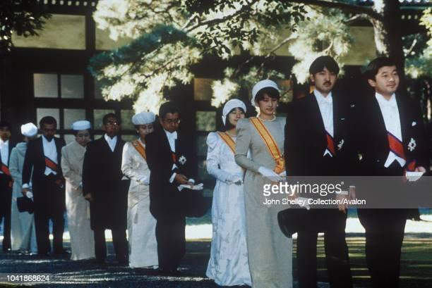 Enthronement of Emperor Akihito Crown Prince Naruhito and Prince Fumihito 8th November 1990