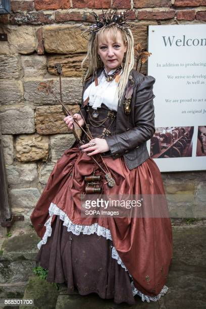 A enthusiast gathers for Whitby Goth Weekend 2017 The Whitby Goth Weekend alternative music festival began in 1994 and takes place twice each year in...