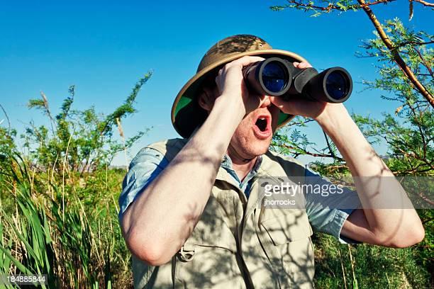 熱心な鳥観測にサファリ