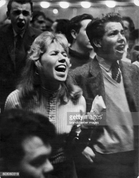 Enthusiastic fans at a Bill Haleyconcert Vienna Konzerthaus 1962 Photograph by Franz Hubmann