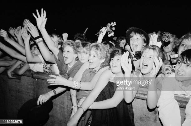 Enthusiastic fans attend English new wave group Culture Club concert at the Apollo Oxford UK 26th September 1983