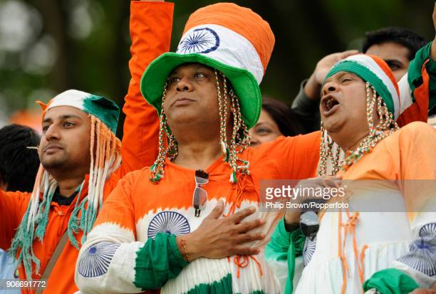 Enthusiastic Indian Fans Before The ICC World Twenty20 Super Eight Match Between India And West Indies