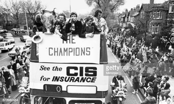 Enthusiastic Liverpool fans gathered in the city centre to welcome their team home from Wembley after their victory in the European Cup Final The...