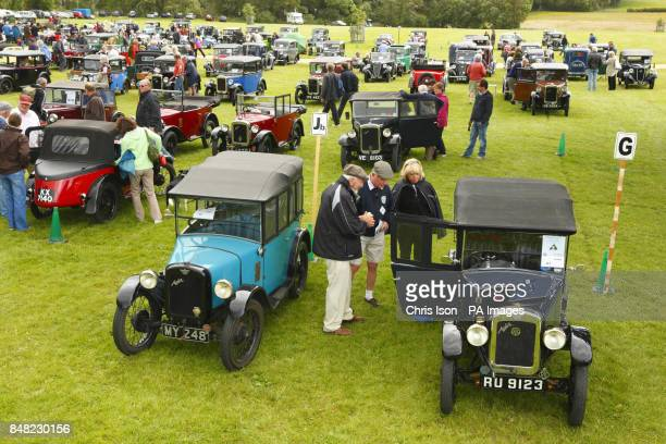 Enthusiasts gather at the 50th Austin Seven Rally at the National Motor Museum in Beaulieu Hampshire