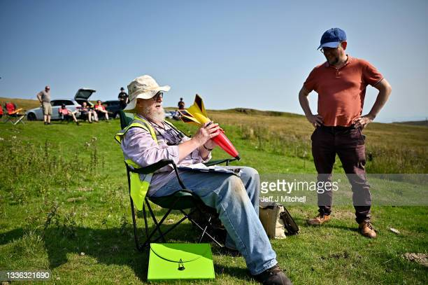 Enthusiasts launch rockets as they gather for International Rocket Week on August 25, 2021 in West Kilbride, Scotland. The IRW 2021 is the 35th...
