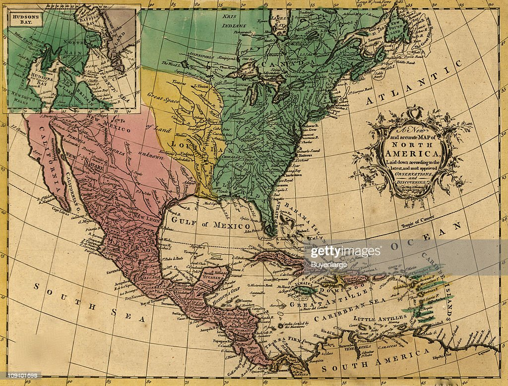 Map Of North America 1763.Entitled A New And Accurate Map Of North America Map Shows North