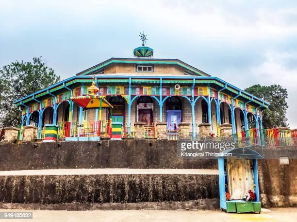 entoto maryam church, ethiopia. - addis ababa stock pictures, royalty-free photos & images