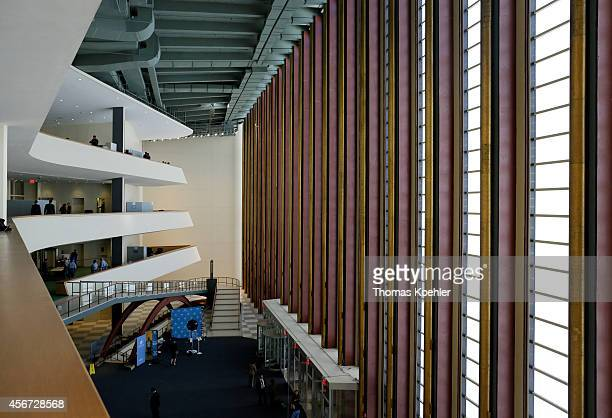 Entrance area of the United Nations assembly hall at the headquarters of the United Nations on September 26 in New York City United States In...