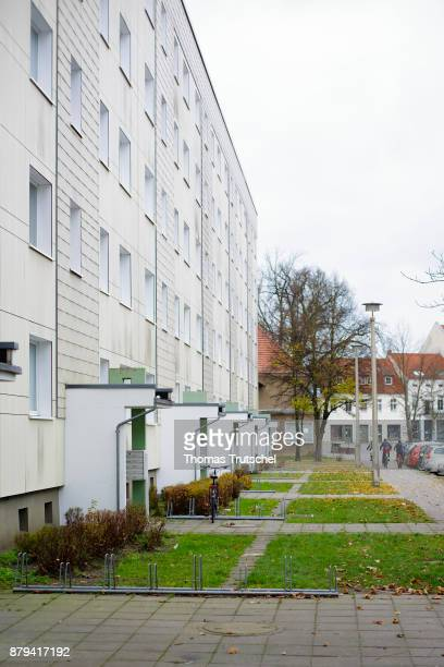 Entrance areas of rental apartments on November 19 2017 in Luebben Germany