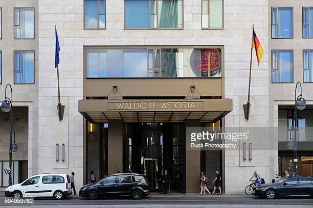 entrance canopy of the waldorf astoria hotel in berlin, city west, berlin, germany - entrance sign stock photos and pictures