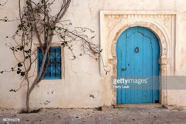 entrance door, building, djerba, tunisia - djerba stock pictures, royalty-free photos & images