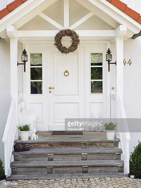 House front door, close-up