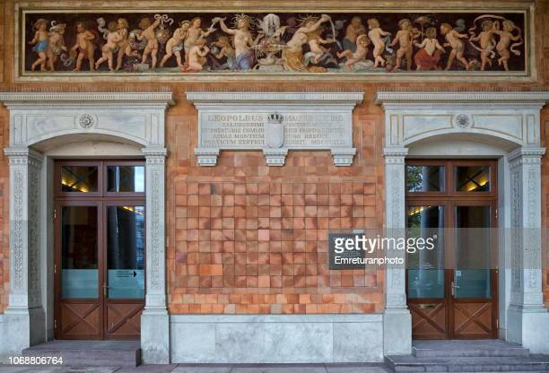 entrance doors of drink hall in baden baden. - emreturanphoto stock pictures, royalty-free photos & images